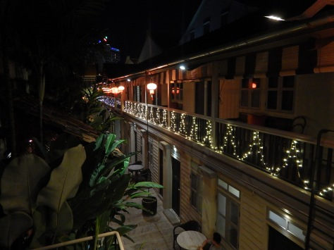 Our Mews hotel at night.