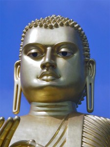 Buddha close-up at Dambulla entrance