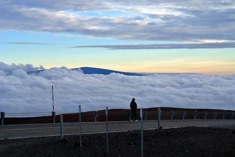 Alone at the top of Mauna Kea, Hawaii
