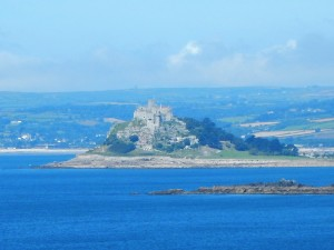 St Michael's Mount in Mounts Bay, Penzance, Cornwall